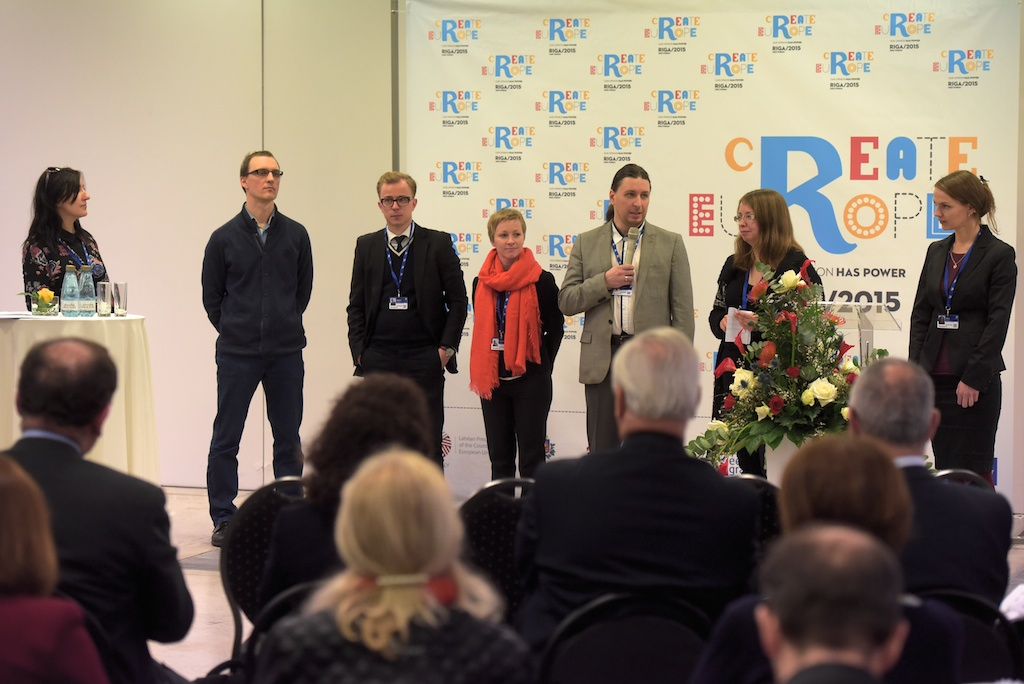 2.03.2015 Riga. Create Europe forum. Foto:Ilmars Znotins